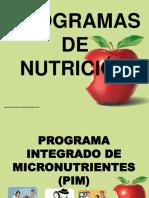 PROGRAMAS NUTRICIONALES