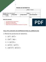 prueba 8 multiplicación expresiones algebraicas2018.docx