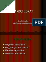 03. Materi Kuliah Karbohidrat_ 09 Maret 2018 Syarif Prasetyo