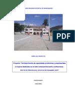 Proyecto Manzanares Tejidos 2016