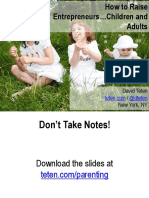 Parenting and Entrepreneurship