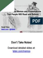 How to Prepare High-Impact Memos and Presentations