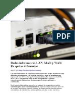 Redes Informáticas LAN