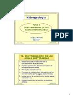 Hidrogeologia Contaminacion de Aguas
