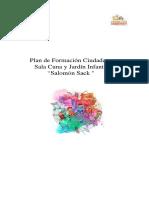 Formato de Plan de Formación Ciudadana. Salomon Sack