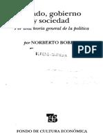 Bobbio, N. Estado, Gobierno y Sociedad(Cap. 3 Selección de Páginas)
