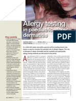 Allergy Testing in Peaditric Atopic Dermatitis