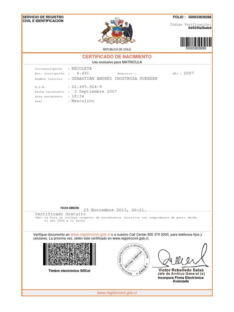 Lujoso Reemplazo De Certificado De Nacimiento Gratuito Patrón - Cómo ...