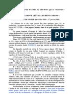 CENT PAGES D'AMOUR Par Marie de Vivier, roman sur Olivier Mathieu dit Robert Pioche