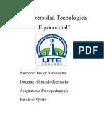 Universidad Tecnológica Equinoccial, Tarea 1