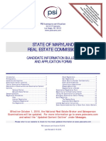 MD Licensing Commission Candidate Information and Forms