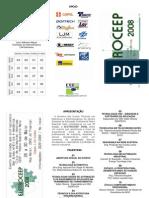ELETROCEEP 2008 - Folder de Palestras