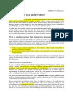 Nuclear Non-proliferation