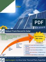 L&T Solar Capabilities 2017