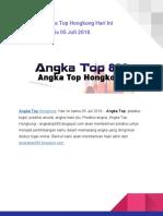 Prediksi Angka Top Hongkong Hari Ini Kamis 05 Juli 2018