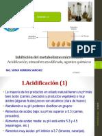 12-Inhibicion Del Metabolismo Microbiana Acificacion, Ac, Agentes Quimicos