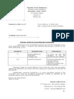 Formal Offer of Evidence Defendant