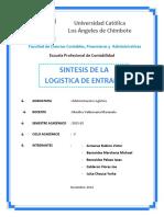 Tarea Grupal- Unidad I-LOGISTICA