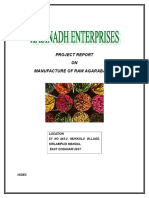 Project Report on Manufacture of Incense Sticks