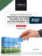 Programa Cierre Minas 2016