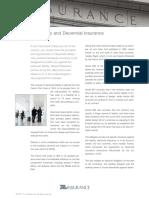 Decennial & Other Insurance