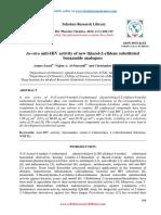 Invitro Antihiv Activity of New Thiazol2ylidene Substitutedbenzamide Analogues
