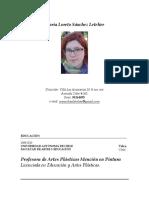 CV Maria Loreto Sanchez Profesora