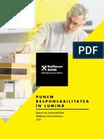 Raport de Sustenabilitate Raiffeisen Bank 2017
