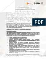 Especificaciones Tecnicas Isidro Ayora Tipo a 1