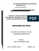 Seminario de Tesis - Centro Ecuturistico en El Municipio de Cintalapa Chiapas