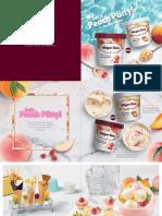 Peach Party Menu Book SG