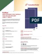 Canadian Solar-Datasheet- KuMax MBB 5BB CS3U-P High Efficiency v5.571 En