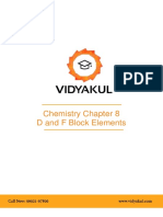 NCERT Solutions Class 12 Chemistry Chapter 8 D and F Block Elements