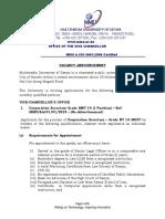 External Advert Registrar January 2018