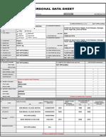 Updated Mohamadalimala Personal Data Sheet 2018