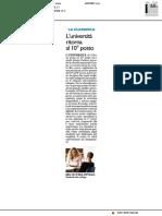 CENSIS, Urbino torna al decimo posto - Il Resto del Carlino del 4 luglio 2018