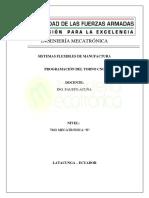 Hoja de Procesos TORNO CNC