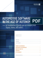 Automotive Software in the Age of Autonomous Driving