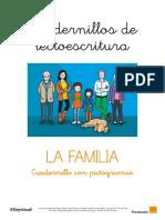 Cuadernillo Lectoescritura. La Familia. Pictogramas Arasaac