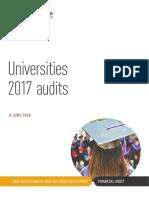Universities 2017 Audits