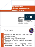 Designing Online Information systems for portfolio based assessment-Design criteria and heuristics