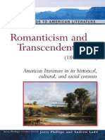 Romanticism and Transcendentalism 1800 1860 Background to American Literature