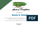 b@b Certificate