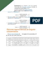 Razones Trigonométricas Del Ángulo