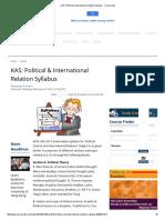 KAS_ Political & International Relation Syllabus - Careerindia