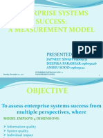 ENTERPRISE SYSTEMS SUCCESS