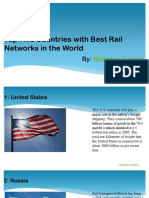 Countries With Best Rail Networks by Nicholas Zubrick