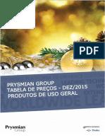 Tabela de Precos DEZ 2015 Prysmian