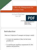 Information Lifecycle Dhawal Himani & Hitasha