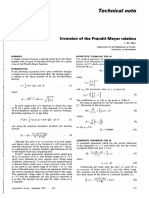 Inversion of the Prandtl-Meyer Relation (1975)
